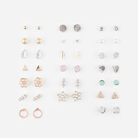 FULL TILT 20 Pairs Flower/Circle Earrings | Earrings
