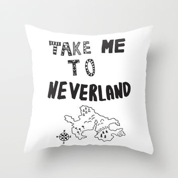 Take me to Neverland Throw Pillow by Vasare Nar