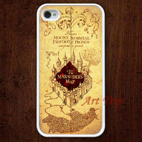iPhone 4 Case, iphone 4s case -- marauder's map iPhone 4 Case, harry potter iphone 4 case, graphic iphone 4 case, iphone case