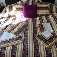 AUTH. VERSACE HOME BED SET PURPLE/GOLD FOR KING SIZE BED