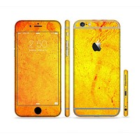 The Orange Vibrant Texture Sectioned Skin Series for the Apple iPhone 6 Plus