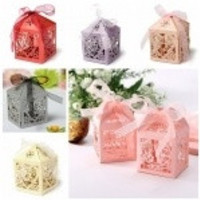 10 pcs Luxury Wedding Sweets Candy Favour Boxes Wedding Favours Table Decorations Heart Design = 1932560260