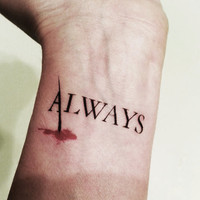 Castle - Always Temporary Tattoo - Caskett - Castle and Beckett