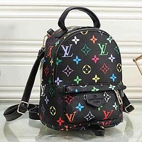 Louis Vuitton LV Woman Men Fashion Leather Travel Bookbag Shoulder Bag Backpack
