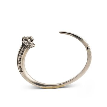 Lion Cuff Bracelet in Sterling Silver or Bronze Heirloom Collection