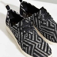 TOMS Textured Canvas Women's Del Ray Sneaker- Black & White