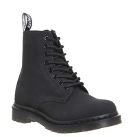 Dr. Martens Pascal Fur Lined Boots Black Leather - Ankle Boots