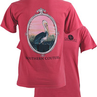 Southern Couture Comfort Colors Preppy Pelican T-Shirt