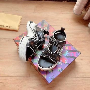 lv louis vuitton women casual shoes boots fashionable casual leather women heels sandal shoes 19