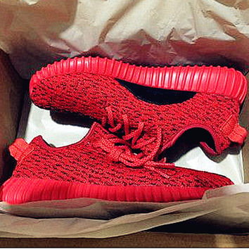 """Women Yeezy Boost """"Adidas"""" Sneakers Running Sports Shoes Red"""