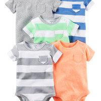 5-Pack Short Sleeve Bodysuits