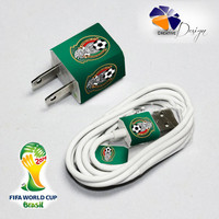 Mexico National Soccer Team Iphone Chager and Cable