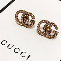 GUCCI New fashion letter more diamond earring