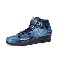 Mauri - M764 Patent Leather Malabo Blue Sneakers