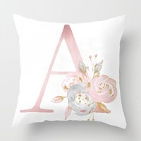Decoration Letter Pillow English Alphabet Polyester Cushion Cover