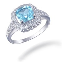 Vir Jewels Sterling Silver Blue Topaz Ring (1.40 CT) In Size 7