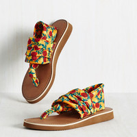 All Isles and Cheers Sandal in Pineapples