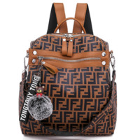 Fendi Leather Travel Bag Backpack