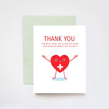 Healthcare Frontline Workers Thank You Card