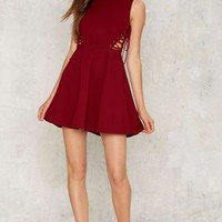 Nasty Gal Find Your Edge Lace-Up Dress