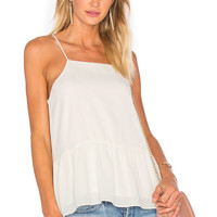 Three Eighty Two Hayden Ruffle Tank in Ivory | REVOLVE