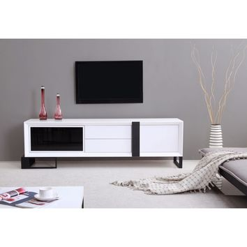 Entertainer TV Stand White B