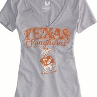 AEO Women's Texas Vintage V-neck T-shirt (Grey)