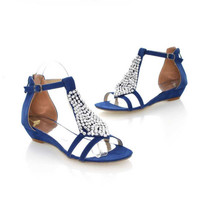 Sexy T Straps Low Wedges Summer Shoes LAVELIQ