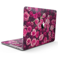 Vibrant Pink Vintage Rose Field - MacBook Pro with Touch Bar Skin Kit