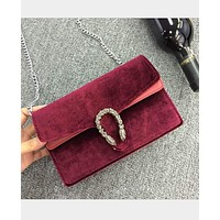 New ladies shoulder Messenger bag mini cashmere chain package