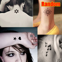 Unisex Temporary Tattooes For Man Woman Waterproof Stickers Makeup Lovely Cat Body Art Flash Tattoo 88