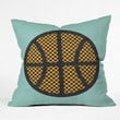 Nick Nelson Op Art Basketball Throw Pillow