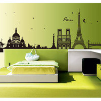 Romantic Paris View DIY Wall Sticker
