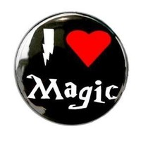 I Love Magic Button Pin by theangryrobot on Etsy