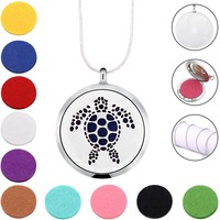 Turtle 316L Stainless Steel jewelry necklace locket pendant Aromatherapy Essential Oil Diffuser Necklace For Gifts