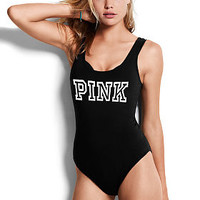 Scoop Neck Tank Bodysuit - PINK - Victoria's Secret