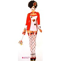 Leg Avenue Card Guard Sexy Halloween Costume Cosplay Dress Head Piece Hearts