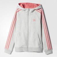 adidas Fleece Hoodie - Grey | adidas US