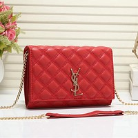 YSL Yves Saint Laurent Hot Sale Retro Ribbed Check Tote Bag Coin Purse Cosmetic Bag Fashion Ladies One Shoulder Messenger Bag