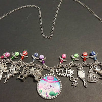 Disney fairy tales themed stainless steel charm necklace