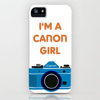 Canon Girl - Offshoot print iPhone Case by mrs eliot books