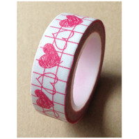 Pink heart Washi Tape Full Roll WT328 11yards