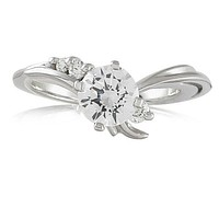 Vivadore Sweeping Diamond Engagement Ring