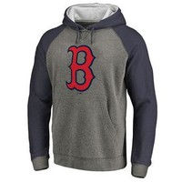 Boston Red Sox MLB Gray/blue Ultra Pullover Hoodie
