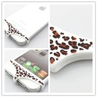 Big Dragonfly Unique Sexy Leopard Print Underwear Series Premium Soft Silicone Home Return Key Button Protection for Apple iPhone 5 and iPhone 4 4s Retail Package