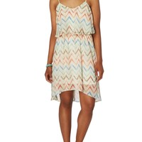Belted Chevron Popover Sun Dress