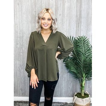 Coming Back to You Olive Top