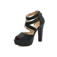 Big Size 11 12 13 14 15 16 17 the sexy  Waterproof and Taiwan Coarse women's shoes extreme high heels pumps woman for women