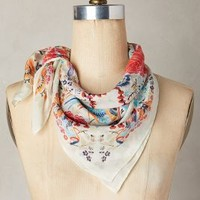Dalila Silk Kerchief by Anthropologie in Ivory Size: One Size Scarves