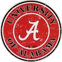 University of Alabama Circular Sign | Alabama Crimson Tide Signs | BAMA Roll Tide Sign